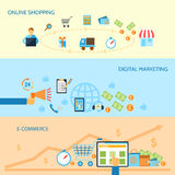 Shopping e-commerce banner Stock Images