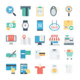 Shopping and E Commerce Colored Vector Icons 4. Shop online now ! This is useful shopping and ecommerce colored  icons category. Hope you can find a great use Stock Images