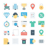 Shopping and E Commerce Colored Vector Icons 3 Stock Photo