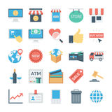 Shopping and E Commerce Colored Vector Icons 5 Royalty Free Stock Image
