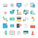 Shopping and E Commerce Colored Vector Icons 6 royalty free illustration