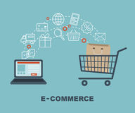 Shopping and e-commerce graphic design with icons. Vector illustration Stock Image