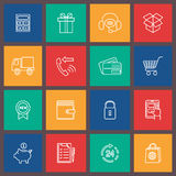 Shopping e-commerce icon Royalty Free Stock Photography
