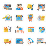 Shopping E-commerce Icon Royalty Free Stock Photos