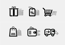 Shopping and e-commerce icon set Royalty Free Stock Photography