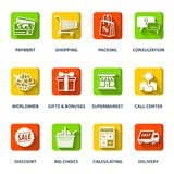 Shopping E-commerce Icons Royalty Free Stock Photography