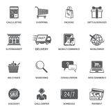Shopping E-commerce Icons Royalty Free Stock Photo