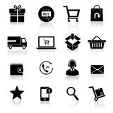 Shopping E-commerce Icons Royalty Free Stock Photos