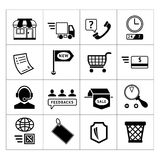 Shopping and e-commerce icons set. Isolated on white Stock Image