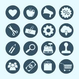 Shopping and e-commerce icons. Vector Royalty Free Stock Images