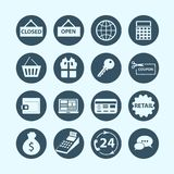 Shopping and e-commerce icons. Vector Stock Photography