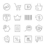 Shopping and E-Commerce pack. Line icons set for apps,  Stock Images