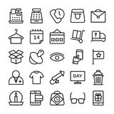 Shopping and E Commerce Vector  Icons 2 Stock Image