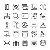 Shopping and E Commerce Vector  Icons 7 Stock Image