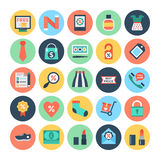 Shopping and E Commerce Vector Icons  3 Royalty Free Stock Photography