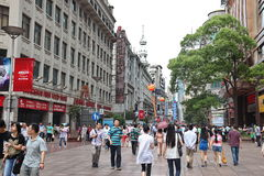 Shopping in East Nanjing Road on Jun 16, 2012. Royalty Free Stock Image