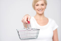 Shopping is easy in online. Stock Photo
