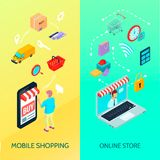 Shopping Ecommerce Banner Set Royalty Free Stock Photo