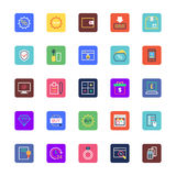 Shopping and eCommerce Colored Vector Icons 4 Stock Images