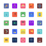 Shopping and eCommerce Colored Vector Icons 2 Stock Image