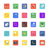 Shopping and eCommerce Colored Vector Icons 3 royalty free illustration