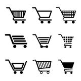 Shopping and ecommerce graphic design with icons Stock Photos