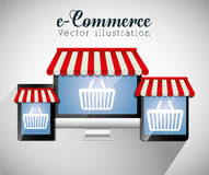 Shopping and ecommerce graphic design Stock Photography