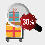 201Shopping and ecommerce. Shopping and ecommerce graphic design, vector illustration Royalty Free Stock Photography