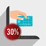 201Shopping and ecommerce. Shopping and ecommerce graphic design, vector illustration Royalty Free Stock Photo