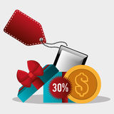 201Shopping and ecommerce. Shopping and ecommerce graphic design, vector illustration Royalty Free Stock Images