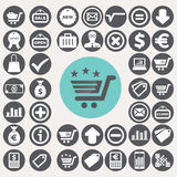 Shopping and eCommerce icons set. Royalty Free Stock Photo