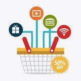 Shopping, ecommerce and marketing Stock Photography