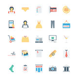 Shopping, Ecommerce, Retail and Shipping Vector Icons 3 Stock Photography