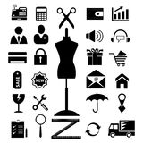Shopping and electronic commerce web icons set. raster version,  file also available in gallery Royalty Free Stock Photography