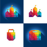 Shopping Elements. Colorful  shopping elements suitable for logo, icon and button Royalty Free Stock Photos