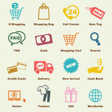 Shopping elements Royalty Free Stock Photography