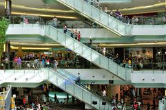 Shopping and Elevator. Shopping mall in Future Park, Rangsit, Bangkok, Thailand Stock Images