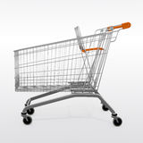 A shopping empty trolley cart royalty free illustration