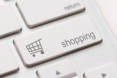 Shopping enter key Stock Image