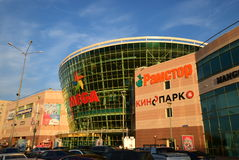 Shopping and entertainment center MEGA in Astana / Royalty Free Stock Images