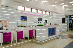 Shopping and entertainment complex Gulliver, manicure studio, St. Petersburg, Russia Stock Photos
