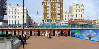 Shopping esplanade at I360 viewing tower, Brighton, Sussex, England Royalty Free Stock Images