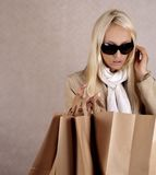 Shopping euphoria Royalty Free Stock Photography