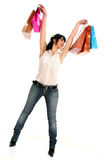 Shopping euphoria Stock Photography