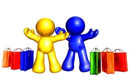 Shopping excitement Royalty Free Stock Photos