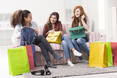 Shopping is so exciting! Stock Image