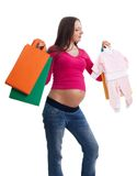 Shopping while expecting Royalty Free Stock Photography