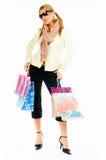 shopping för 2 flicka Arkivfoto