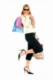 shopping för 2 flicka Arkivbilder