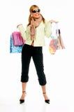 shopping för 2 flicka Royaltyfri Foto